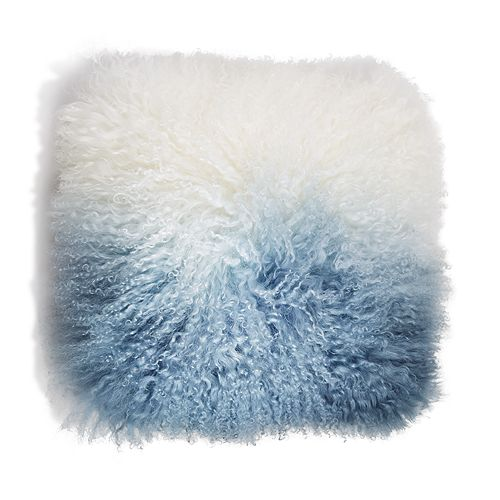 "Eightmood - Fuyu Dip-Dyed Fur Decorative Pillow, 16"" x 16"""