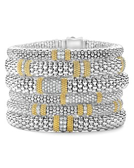 LAGOS - 18K Gold & Sterling Silver Diamond Lux Bracelets