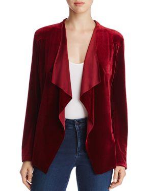 Alison Andrews Velvet Drape-Front Jacket
