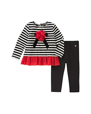 kate spade new york Girls' Bow Applique Top & Leggings Set - Baby