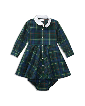 Ralph Lauren Childrenswear Girls' Plaid Shirt Dress & Bloomers Set - Baby