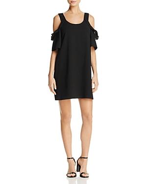 Aqua Ruffled Cold-Shoulder Shift Dress - 100% Exclusive