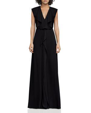 Bcbgmaxazria V-Neck Draped Gown - 100% Exclusive