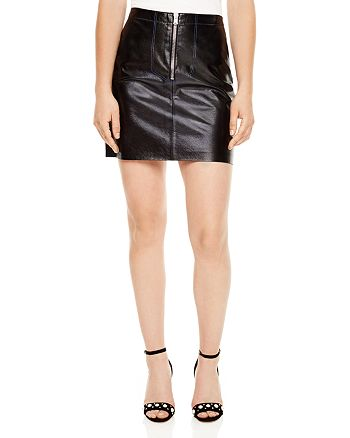 f12450f5ef Sandro Ray Leather Mini Skirt | Bloomingdale's