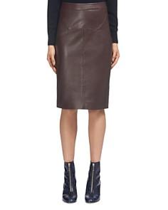 Whistles - Kel Leather Pencil Skirt