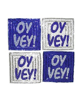 Sudha Pennathur - Oy Vey! Coasters, Set of 4