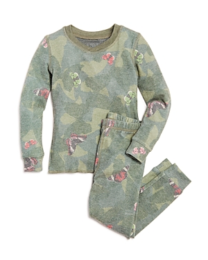 Pj Salvage Girls' Butterfly Camo-Print Pajama Top & Bottoms Set - Little Kid