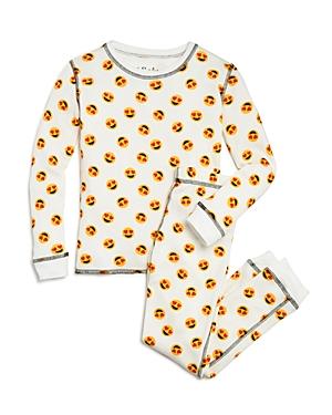 Pj Salvage Girls HeartEyes Emoji Pajama Shirt  Pants Set  Big Kid