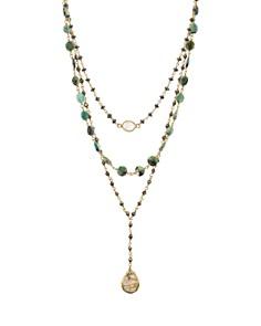 """Ela Rae - Blue and White Necklace, 6-8.3"""""""