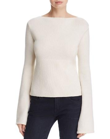 $Elie Tahari Jazma Lace-Up-Back Sweater - Bloomingdale's