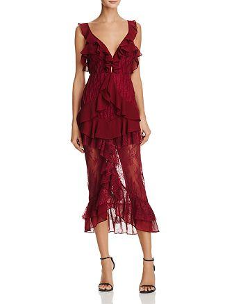 For Love & Lemons - Daphne Ruffle-Trimmed Lace Dress