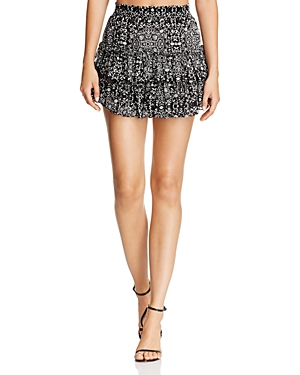 Misa Los Angeles Etsy Tiered Ruffle Mini Skirt