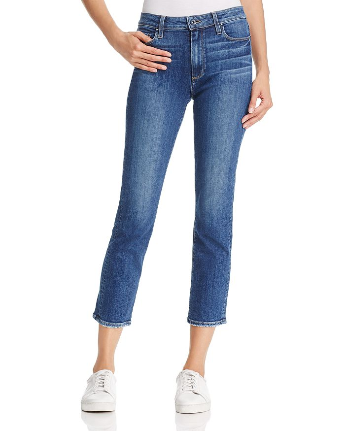 PAIGE - Jacqueline Straight-Leg Jeans in Medium Blue