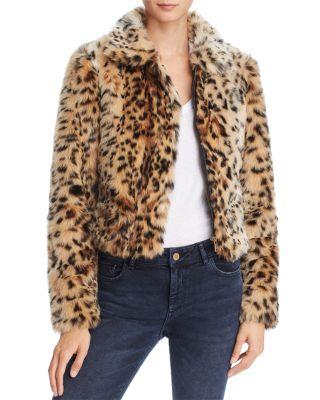 Kate Faux Fur Leopard Bomber