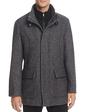 Cole Haan Italian Twill Car Coat with Bib