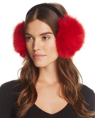 SURELL FOX FUR VELVET BAND EARMUFFS - 100% EXCLUSIVE