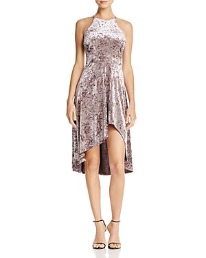 Aqua Crushed Velvet High/Low Dress - 100% Exclusive