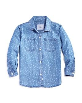 Rails - Girls' Mini Hearts Chambray Shirt - Little Kid, Big Kid