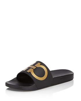 ea1373ee717b Salvatore Ferragamo - Men s Groove 2 Original Double Gancini Slide Sandals  ...