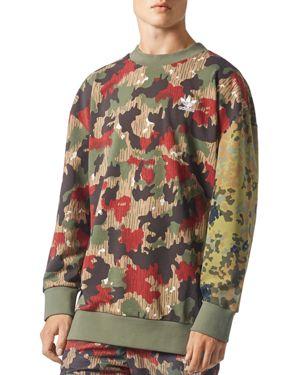adidas Originals Camouflage Oversized Crewneck Sweatshirt