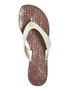 Tory Burch - Women's Leather Monroe Thong Sandals