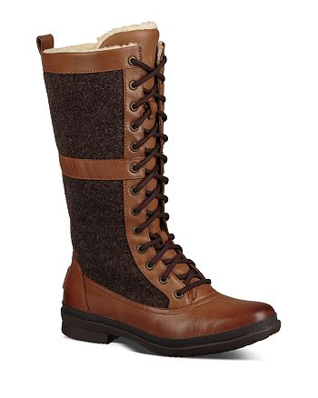 c7fea8bf6bd UGG® Women's Elvia Waterproof Leather Paneled Tall Lace Up Boots ...