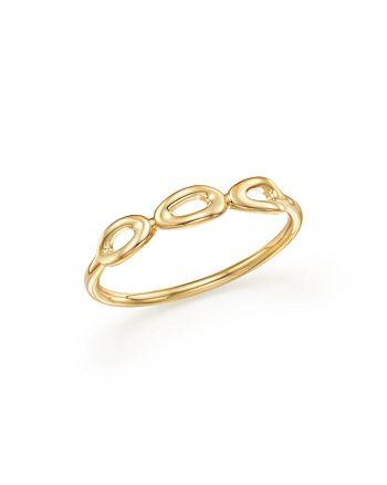 IPPOLITA - 18K Yellow Gold Cherish Mini Triple Link Midi Ring