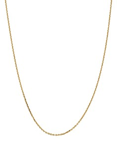 Bloomingdale's 14K Yellow Gold 1.65mm Solid Diamond Cut Cable Chain Necklace - 100% Exclusive_0
