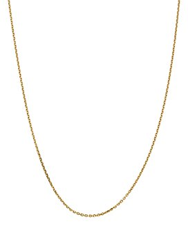 Bloomingdale's - 14K Yellow Gold 1.65mm Solid Diamond Cut Cable Chain Necklace - 100% Exclusive