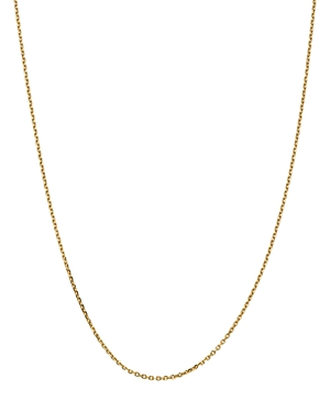 Bloomingdale's 14K YELLOW GOLD 1.65MM SOLID DIAMOND CUT CABLE CHAIN NECKLACE, 20 - 100% EXCLUSIVE