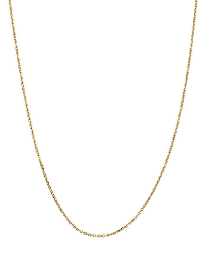 Bloomingdale's 14K Yellow Gold 1.65mm Solid Diamond Cut Cable Chain Necklace - 100% Exclusive  | Bloomingdale's