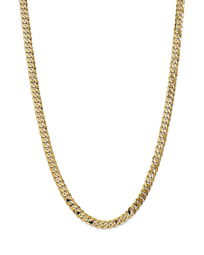 Bloomingdale's 6.75MM BEVELED CURB CHAIN NECKLACE IN 14K YELLOW GOLD, 20 - 100% EXCLUSIVE