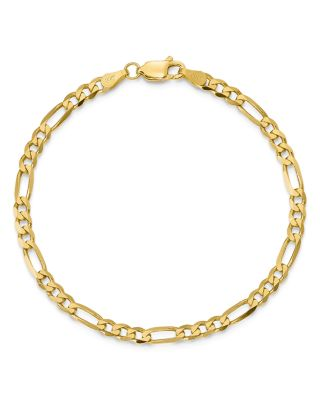 "14K Yellow Gold 4mm Flat Figaro Chain Bracelet, 8"" - 100% Exclusive"