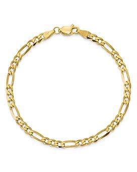 Bloomingdale's - Bloomingdale's 14K Yellow Gold 4mm Flat Figaro Chain Bracelet - 100% Exclusive