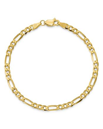 "Bloomingdale's - 14K Yellow Gold 4mm Flat Figaro Chain Bracelet, 7"" - 100% Exclusive"
