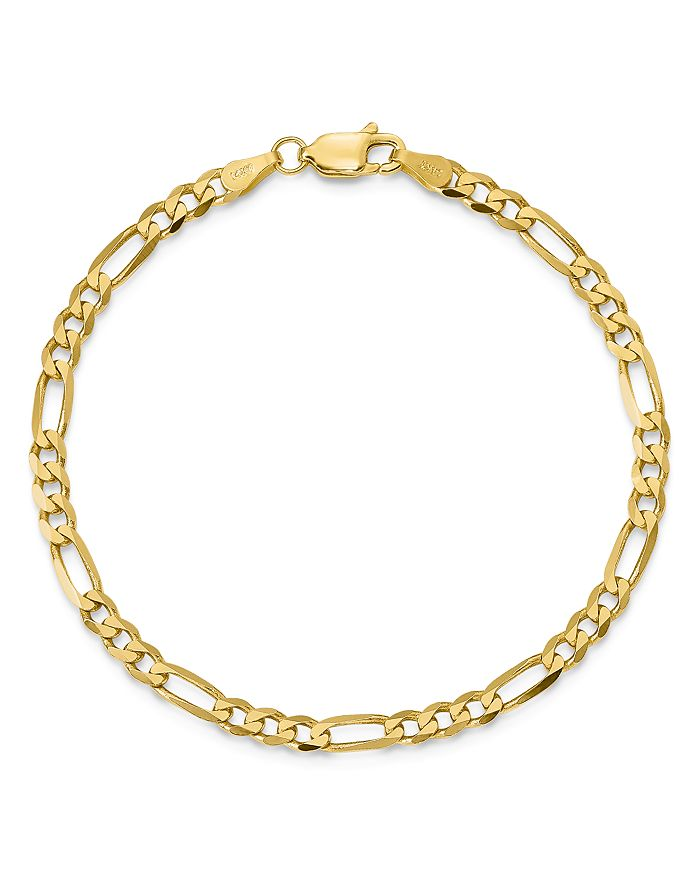 Bloomingdale's - 14K Yellow Gold 4mm Flat Figaro Chain Bracelet - 100% Exclusive