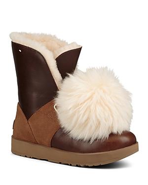 Ugg Women's Isley Waterproof Leather & Sheepskin Booties