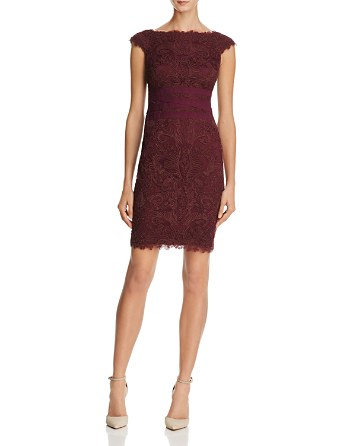 $Tadashi Shoji Petites Corded Lace Dress - Bloomingdale's
