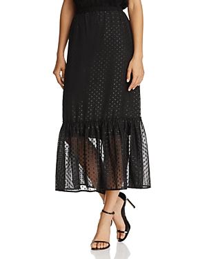 Beltaine Lurex-Dot Chiffon Midi Skirt