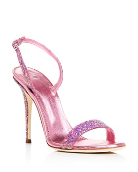 Giuseppe Zanotti - Women's Glittered Leather Slingback High-Heel Sandals - 100% Exclusive
