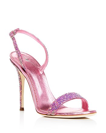 93679dc7cc8 Giuseppe Zanotti - Women s Glittered Leather Slingback High-Heel Sandals -  100% Exclusive