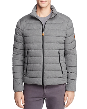 Save The Duck Stretch Heathered Puffer Jacket