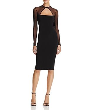 fa813cdb2d65 Nookie Tina Mesh-Detail Midi Dress