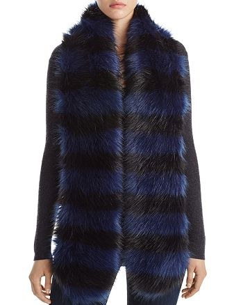 Cara New York - Striped Faux Fur Stole - 100% Exclusive