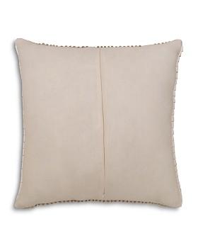 "Mitchell Gold Bob Williams - Faux Leather Ribbon Pillow, 22"" x 22"""