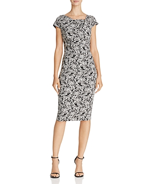 Adrianna Papell Graphic Jacquard Dress