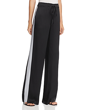 Frame Wide-Leg Satin Track Pants