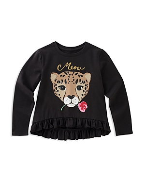 kate spade new york Girls' Meow Leopard Tee - Big Kid
