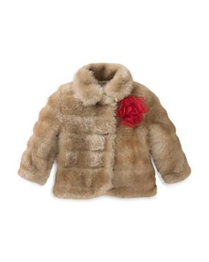 kate spade new york Girls Faux Mink Coat  Big Kid