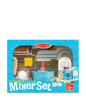Melissa & Doug - Wooden Make-a-Cake Toy Mixer Set - Ages 3+